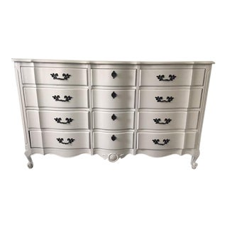 French Provincial Gray 12 Drawer Dresser