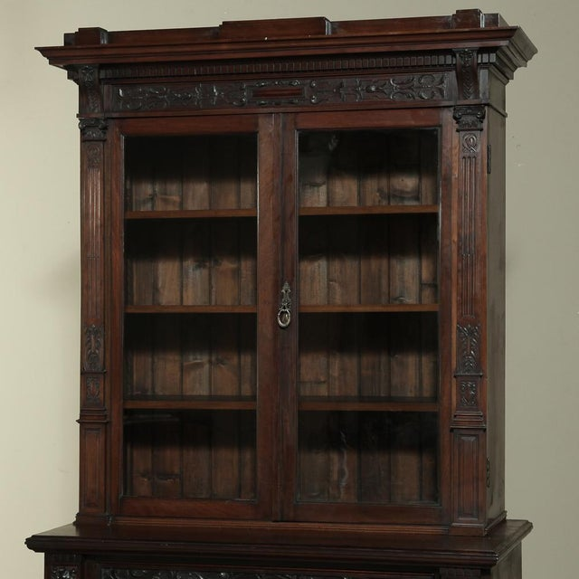 Mid 19th Century 19th Century Renaissance Revival Bookcase With Angels~ Putti For Sale - Image 5 of 13