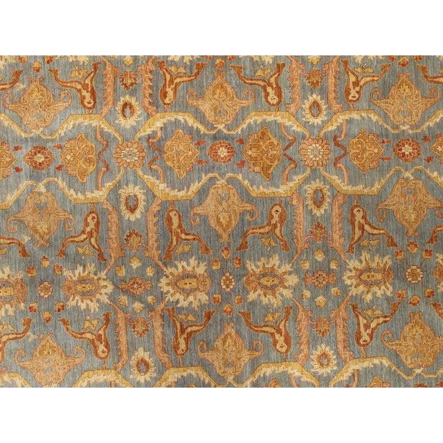 Floral Slate/Orange/Sienna Area Rug - 12′10″ × 17′ For Sale - Image 4 of 5