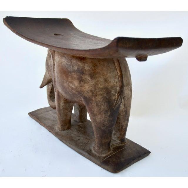 1930s Ashanti African Wood Elephant Stool For Sale - Image 5 of 6