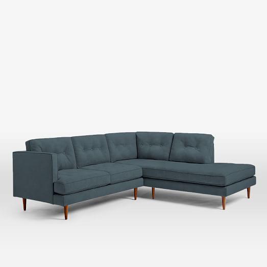 "West Elm Mid-Century Style ""Peggy"" Sofa - Image 2 of 3"