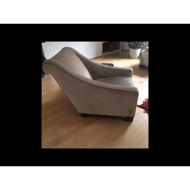 Walnut Art Deco Chair With Ottoman - a Pair For Sale - Image 7 of 11
