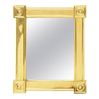 Louis Philipe Style Brass Mirror For Sale