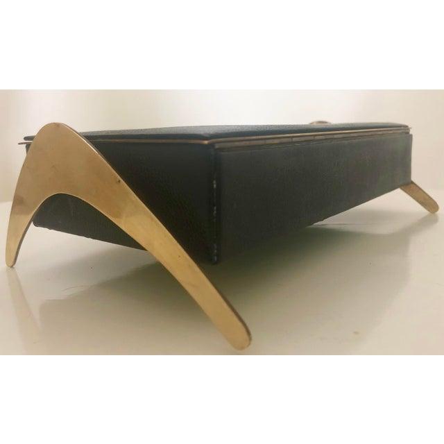 Leather/Brass Atomic Jewelry Box - Image 3 of 11
