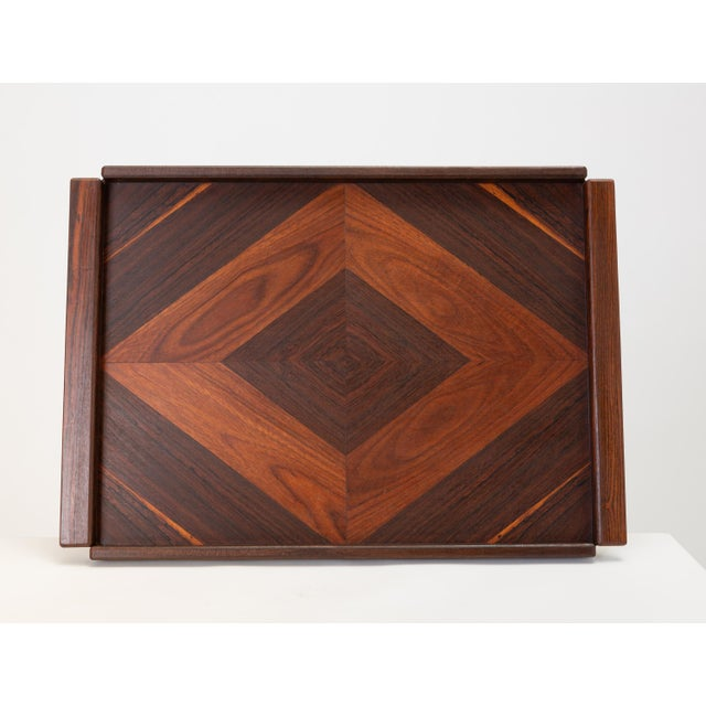 Diamond Motif Rosewood Tray by Don Shoemaker for Señal For Sale - Image 9 of 9