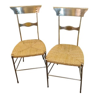 """Lilian August Metal """"Firenze"""" Chairs-a Pair For Sale"""