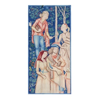Watercolor Rendering of Medieval Tapestry For Sale