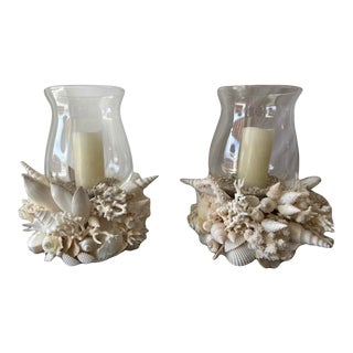 Small Hurricane Lamps - a Pair For Sale