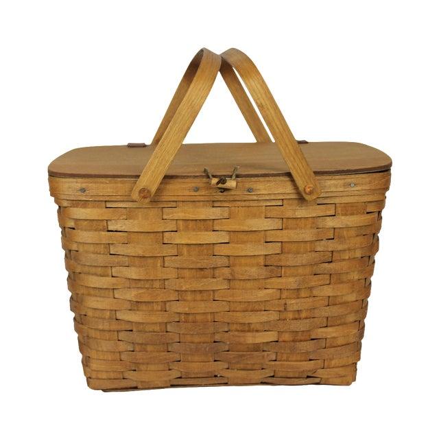 Vintage Longeberger Picnic Basket - Image 1 of 10