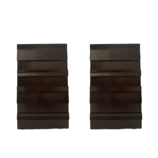 Pair of Four-Drawer Mahogany Nightstands/ Pier Chests by Red Lion For Sale