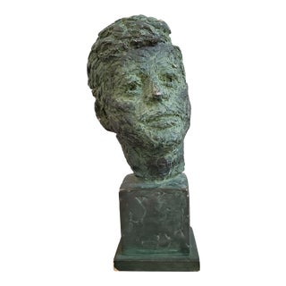John F Kennedy Clay Sculpture Bust by Berks For Sale