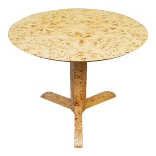 Modern Palecek Geometric Faux Burl Side Table For Sale