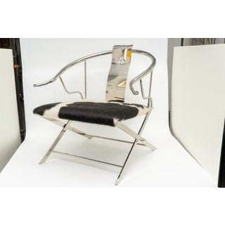 Chrome Ming Style Horseshoe Back Armchair Preview