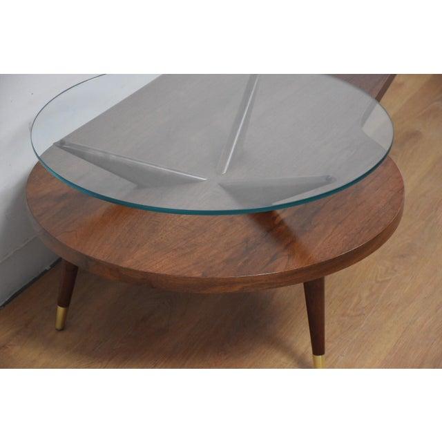 Kagan Style Walnut Coffee Table - Image 8 of 10