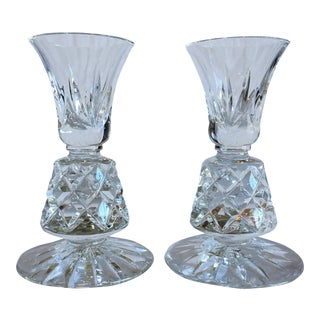 Vintage Crystal Candle Holders Lenox Charleston Pattern - a Pair For Sale