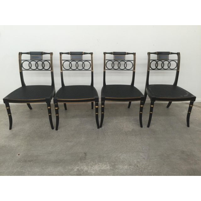 Set of 6 English Regency style chairs - two arm and four side chairs - from the Historic Charleston Collection by Baker...