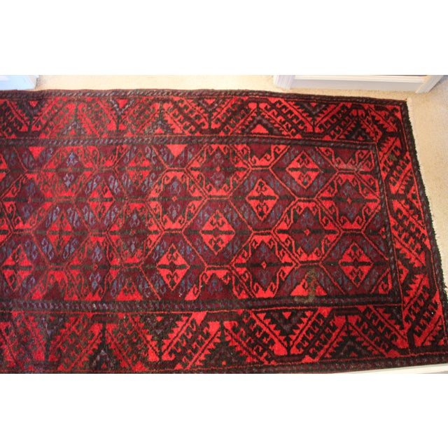 """Traditional Antique Arak Wool Area Rug - 3'5"""" x 6'8"""" For Sale - Image 3 of 9"""