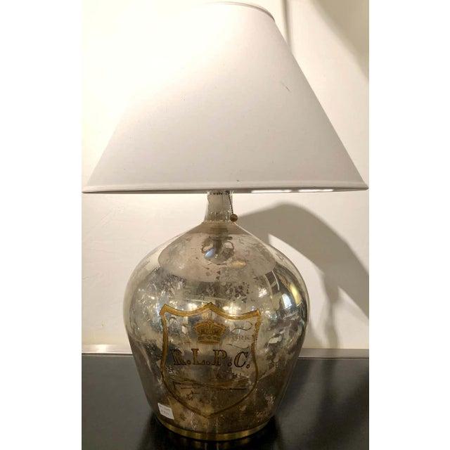 Ralph Lauren large mercury glass table lamp ZXX.