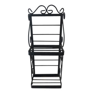 Vintage Wrought Iron Wall Shelf For Sale