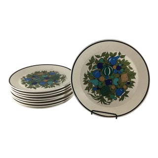 Fall Bounty Stoneware Dinner Plates - Set of 9