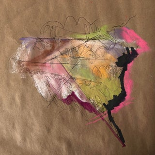 Original Abstract United States of America in Pastel For Sale