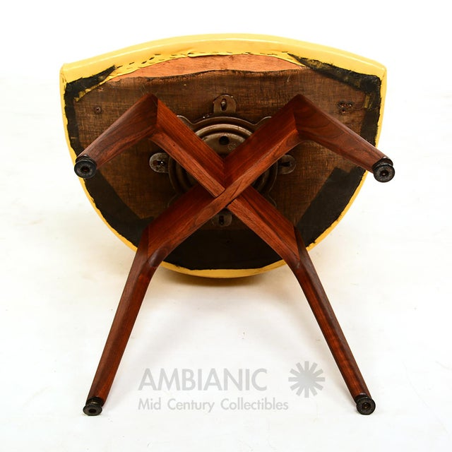 Mid-Century Danish Modern Walnut Revolving Chair For Sale - Image 9 of 10