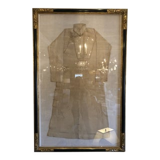 Large Antique Silk Kimono in Luxurious Frame For Sale