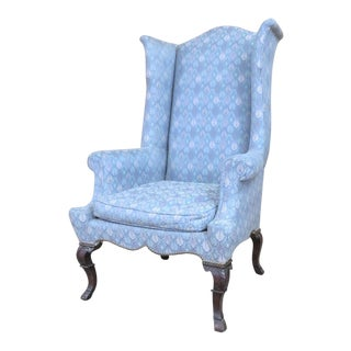 Chippendale Highback Wing Chair For Sale