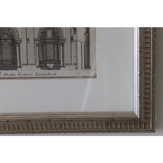Early 19th Century Antique Spaccato De La Chiesa Architectural Print For Sale - Image 9 of 12