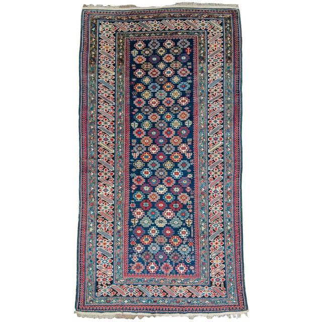 On a very basic level this Chichi rug from the eastern Caucuses is a classic example of its type. The main border is...