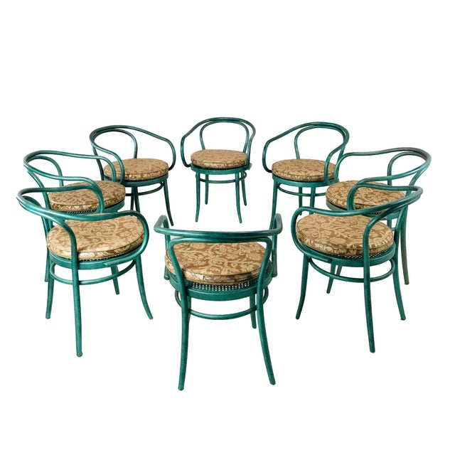 Set of 8 Thonet Bentwood Dining Chairs For Sale - Image 10 of 10