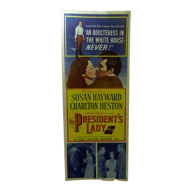 """Vintage Movie Poster """"The Presidents Lady"""" Charlton Heston - 1953 For Sale"""