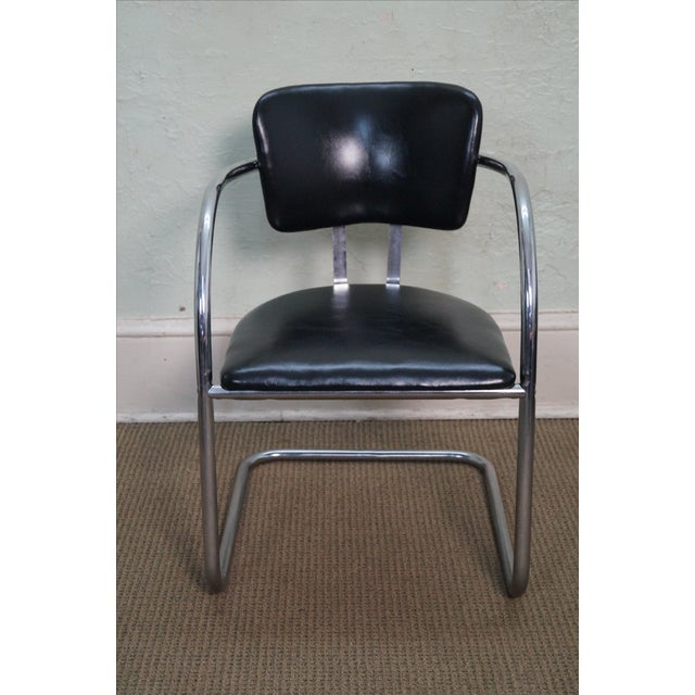 Chromecraft Vintage Mid Century Modern Arm Chair AGE/COUNTRY OF ORIGIN: Approx 60 years, America DETAILS/DESCRIPTION:...