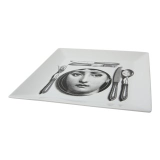 Mid-Century Modern Fornasetti Plate of Julia For Sale