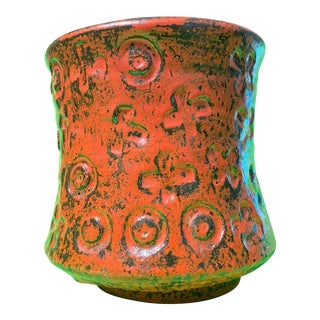 Franz Kriwanek X's & O's Fantastic Glaze Studio Pottery Vase For Sale