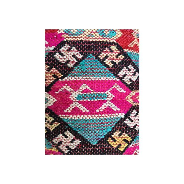 Antique Handwoven Tribal Pillow - Image 6 of 7