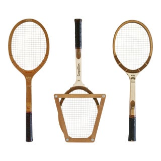 Vintage Tennis Rackets - Set of 3 For Sale