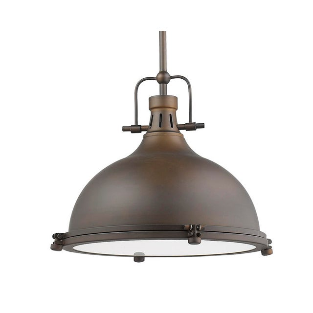 Warehouse 1 Light Pendant, Oiled Bronze For Sale - Image 10 of 10