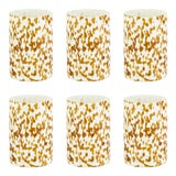 Image of Stories of Italy Macchia su Macchia Tumblers - Ivory & Amber, Set of 6 For Sale