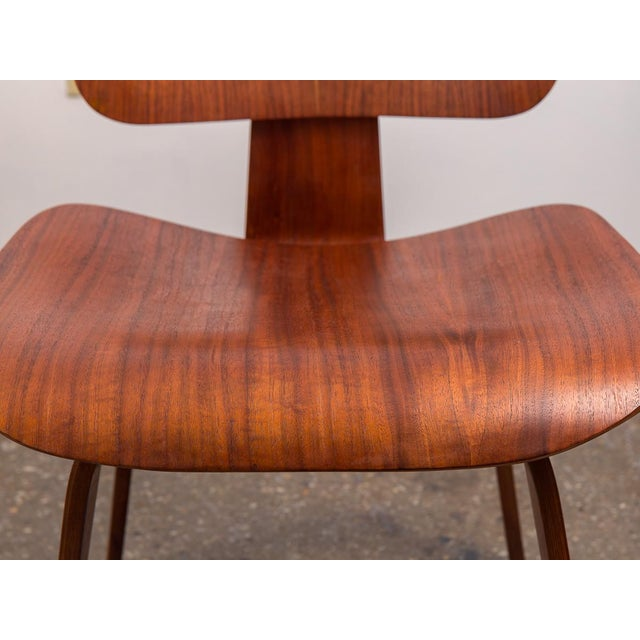 Early Eames Walnut Dcw Chairs for Herman Miller - a Pair For Sale - Image 10 of 12