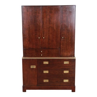 Milo Baughman for Directional Custom Collection Campaign Style Gentleman's Chest For Sale