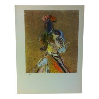 """Circa 1980 """"La Goulue Head Study 1895"""" Color Print of a Toulouse-Lautrec Drawing For Sale"""