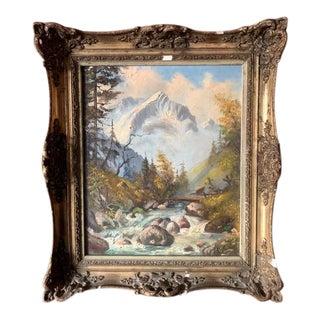 Alpspitze Garmish Germany Oil Painting For Sale