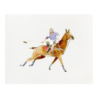 """""""Polo Swing"""" Giclée Art Print by Felix Doolittle - 8x10 For Sale"""