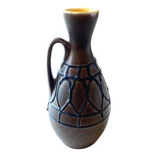 Mid-Century Brown Bay Keramik Vase, W. Germany For Sale