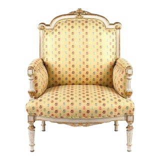 Italian Cream Painted and Parcel Gilt Marquise For Sale