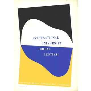 Charles Hinman-International University Choral Festival-1965 Serigraph-SIGNED For Sale