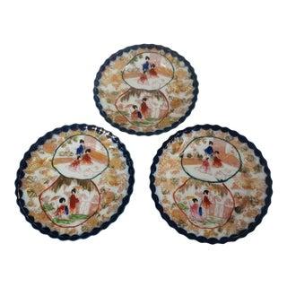 Mid 20th Century Japanese Geisha Girl Plates - Set of 3 For Sale