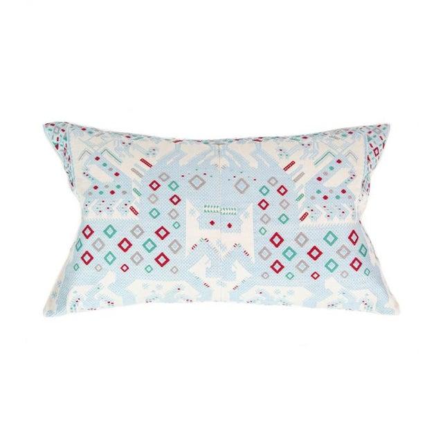 Serenity Blue Handwoven Guatemalan Pillow - Image 1 of 7