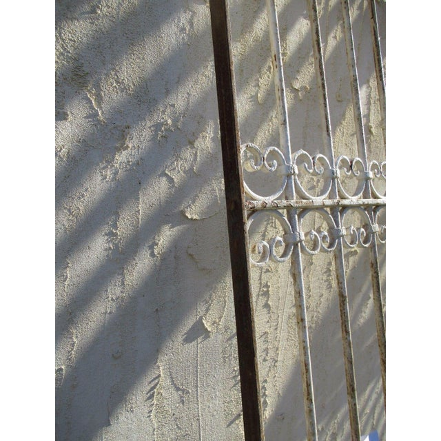 Antique Victorian Iron Gate Window Garden Fence Architectural Salvage Door For Sale - Image 5 of 6